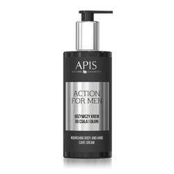 APIS Action for Men odżywczy krem do ciała i dłoni 300ml