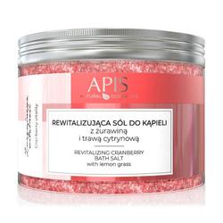 APIS rewitalizująca sól do kąpieli z żurawiną i trawą cytrynową 650g