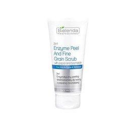 BIELENDA 2w1 enzymatyczny peeling drobnoziarnisty do twarzy z papainą i bromelainą 150g