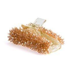 Klamra do włosów z koralików (bursztynowa)