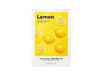 MISSHA Airy Fit Sheet Mask Lemon rozjaśniająca maseczka w płacie