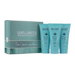 WELLNESS PREMIUM PRODUCTS mini zestaw głęboko nawilżający (szampon 50ml, odżywka 50ml, maska 50ml)