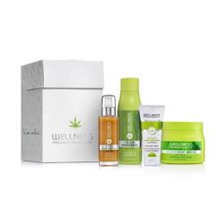 WELLNESS PREMIUM PRODUCTS zestaw prezentowy zielony (szampon 500ml, maska 500ml + serum 100ml + balsam do ciała 180ml GRATIS)